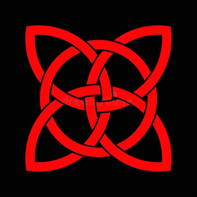 Celtycka shamrock kępka w okręgu ireland symbol royalty ilustracja