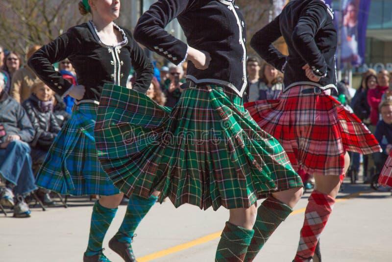 Celtycka taniec kobiety ulica zdjęcie stock