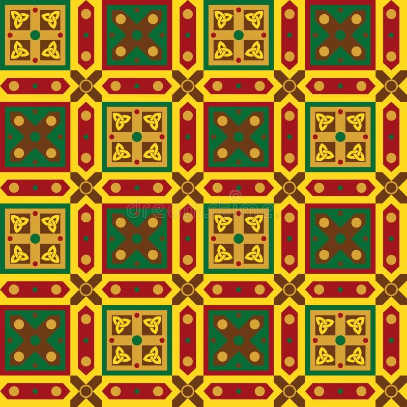 Celtycki bezszwowy wzór ilustracji