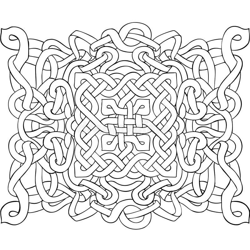 Celtycki czarny i biały wzór Skandynawski ornament Tasiemkowy tło również zwrócić corel ilustracji wektora royalty ilustracja