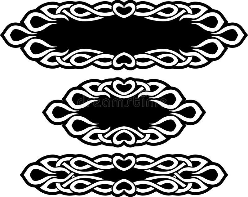 Celtycki Dekoracyjny zespół royalty ilustracja