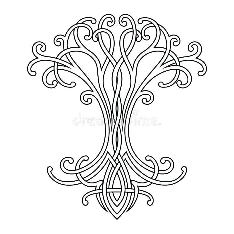 Celtycki drzewo życie ilustracja wektor