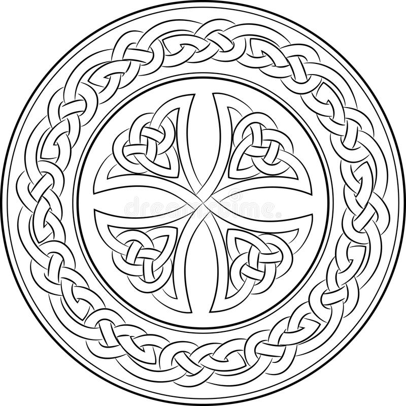 Celtycki kępka krzyż w wianku ilustracja wektor