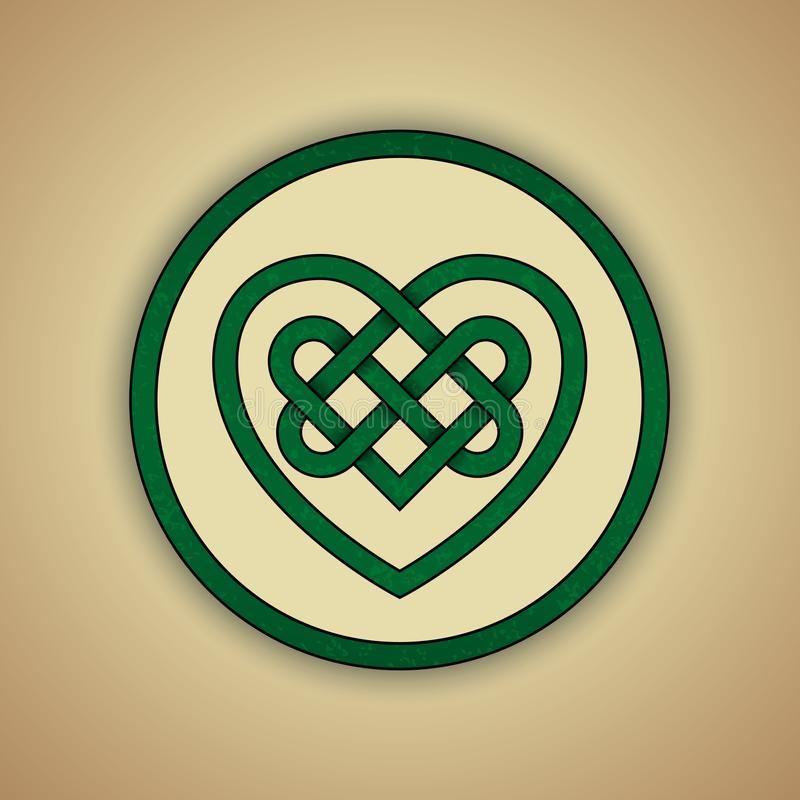 Celtycki kępka symbol miłość ilustracji