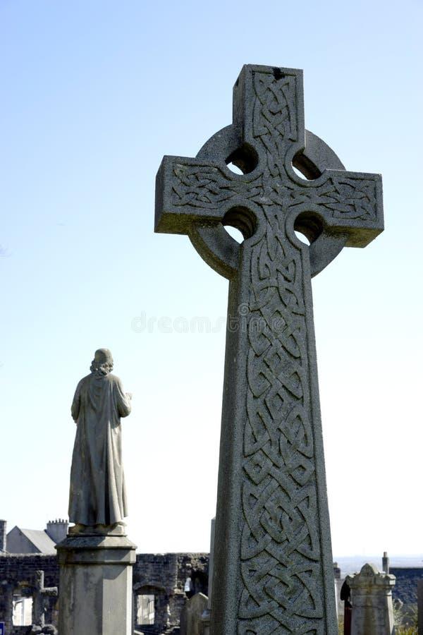 Celtycki krzyż i patron obraz stock