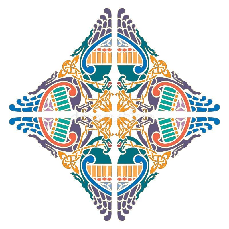 Celtycki ornament - ilustracja projekty ilustracji