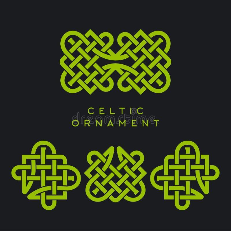 Celtycki Plexus projekta wzór Bezszwowy tło St Patrick ` s dnia projekt royalty ilustracja