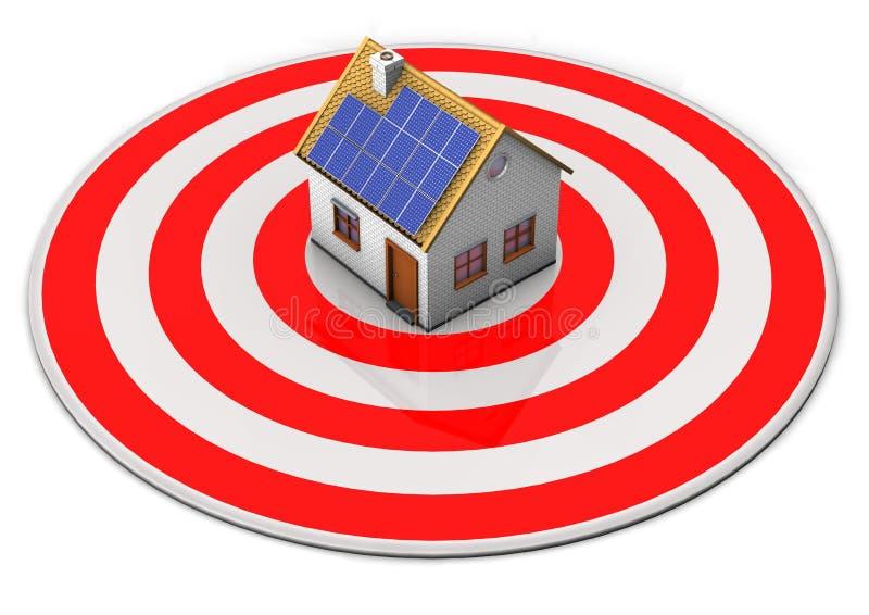 Download Celu dom ilustracji. Ilustracja złożonej z kapitał, bullseye - 28971810