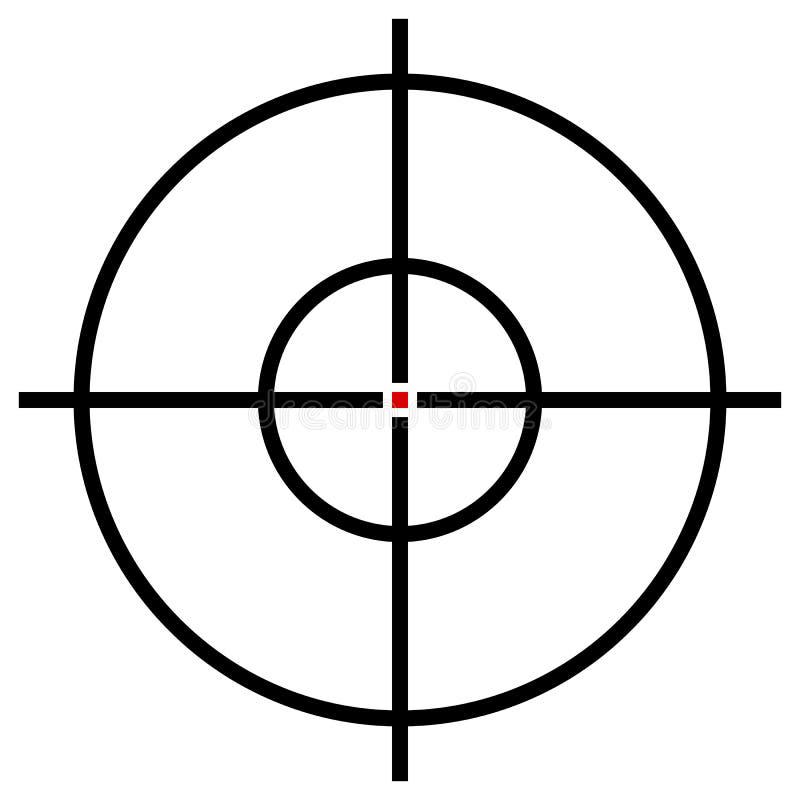 Celu symbol odizolowywający na bielu Dokładność, cel, dążący concep ilustracja wektor