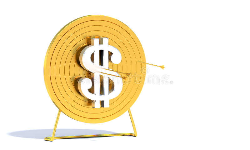 Celu złoty Łuczniczy Dolar ilustracji