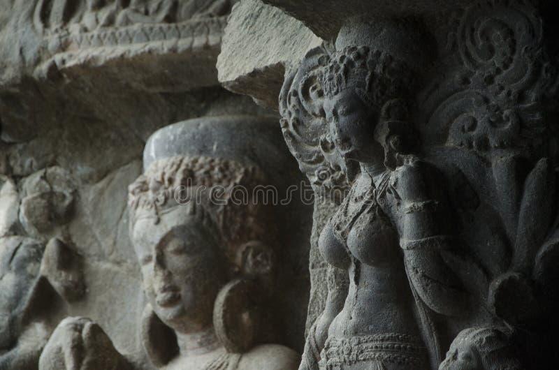 Celui avec les sculptures bouddhistes photographie stock libre de droits