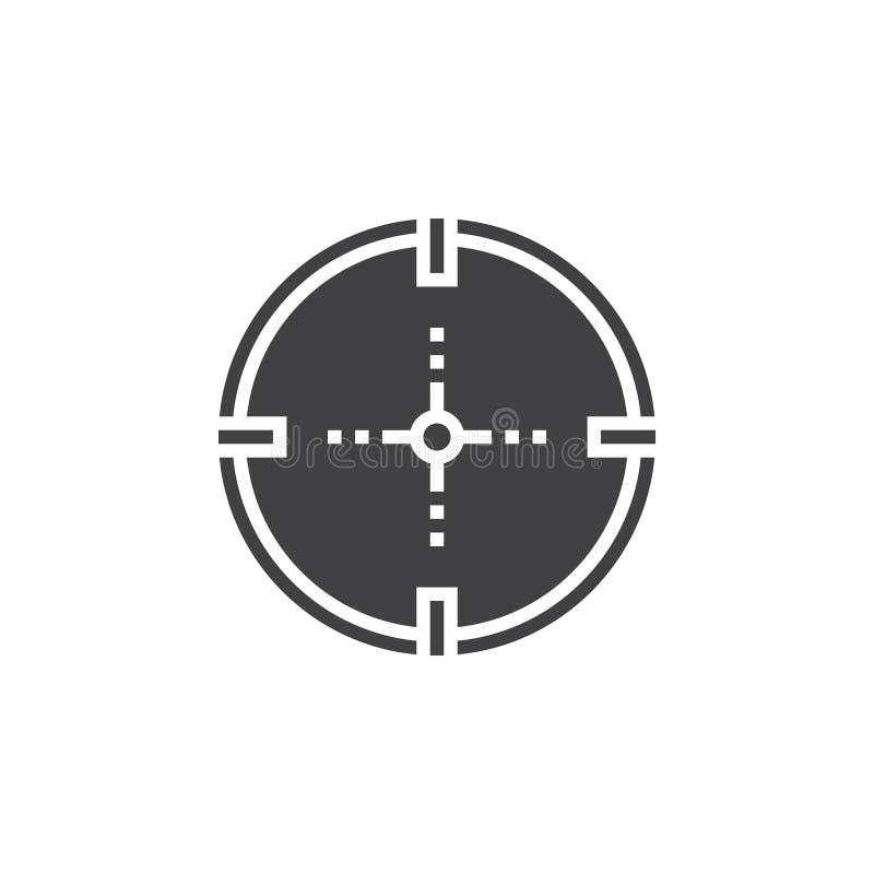 Celuje, cel ikony wektor, wypełniający mieszkanie znak, stały piktograma isola ilustracji