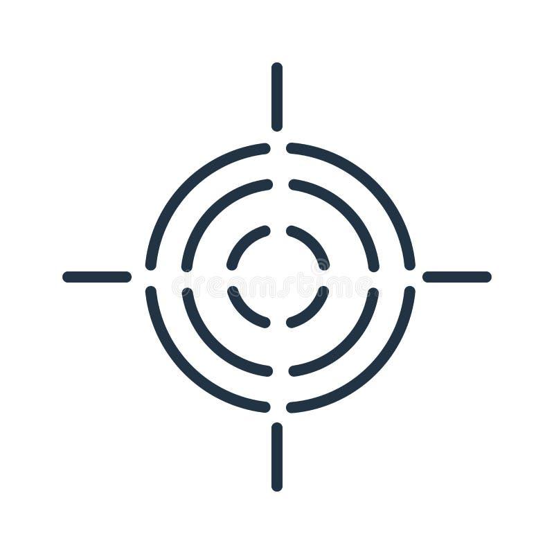 Celuje ikona wektor odizolowywającego na białym tle, celu znak royalty ilustracja