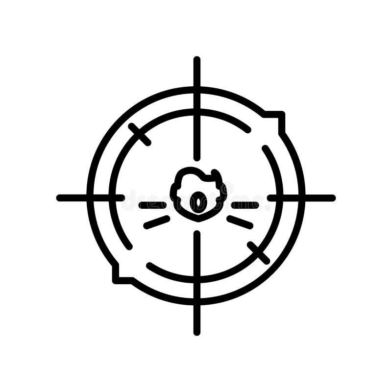Celuje ikona wektor odizolowywającego na białym tle, Celuje, znaka, kreskowego symbol lub liniowego elementu projekt w konturu st ilustracja wektor
