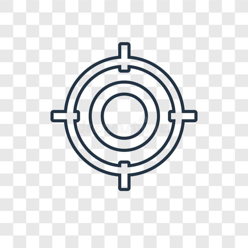 Celuje pojęcie wektorową liniową ikonę odizolowywającą na przejrzystym backgr royalty ilustracja