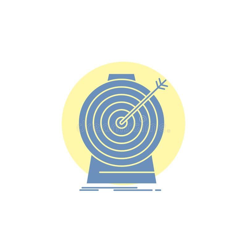 Celuje, skupia się, cel, cel, celuje glif ikonę ilustracji