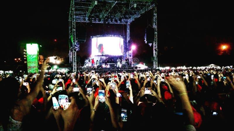 Celular koncert fotografia stock