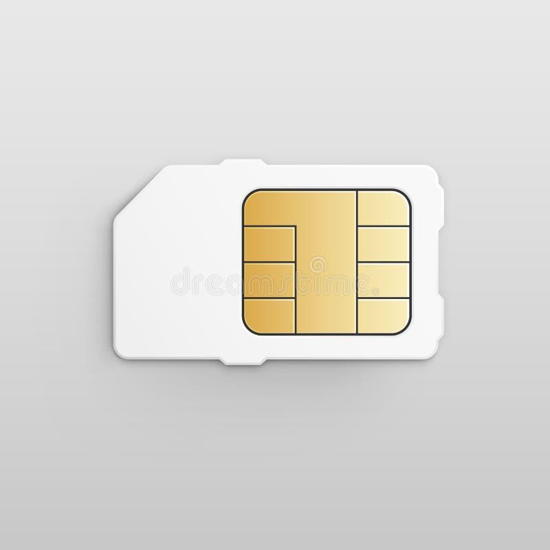 Celular móvel Sim Card Chip do vetor ilustração do vetor