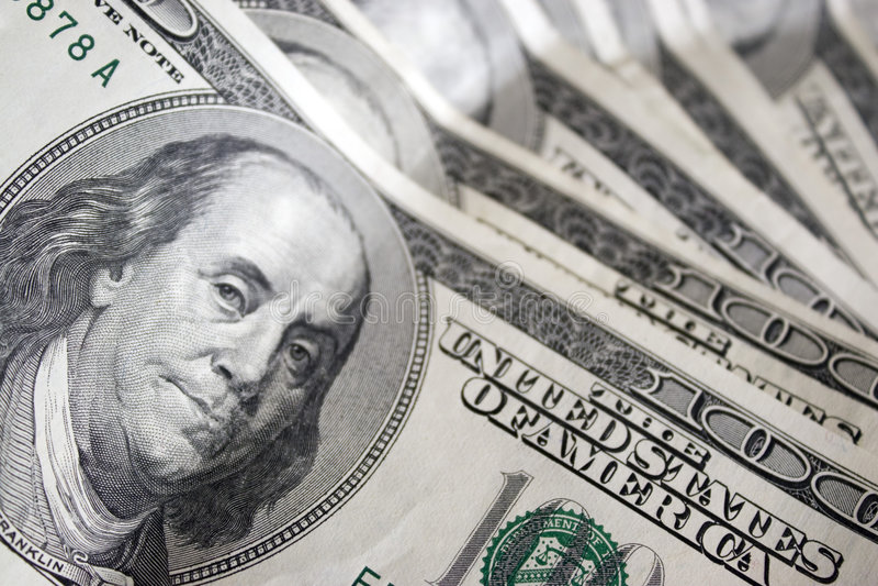 Download Cem contas de dólar foto de stock. Imagem de dinheiro - 5377232