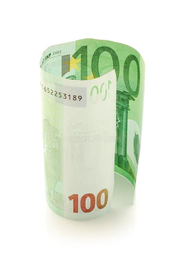 Cem contas do euro imagens de stock royalty free