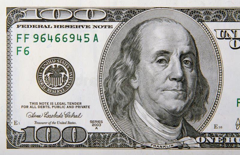 Cem dólares Bill meio fotos de stock royalty free