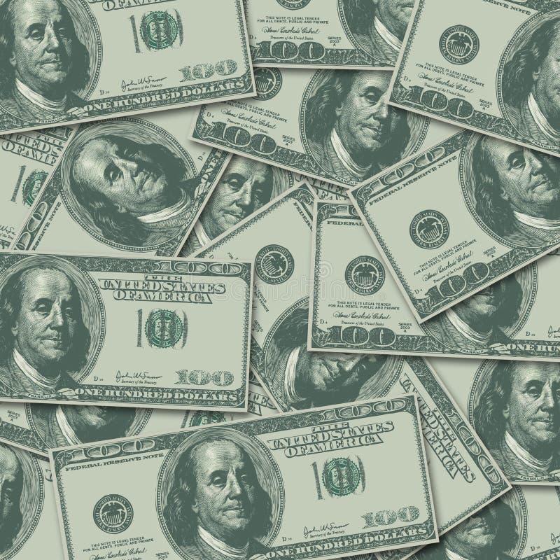 100 cem dólares Bill Money Currency Background ilustração do vetor