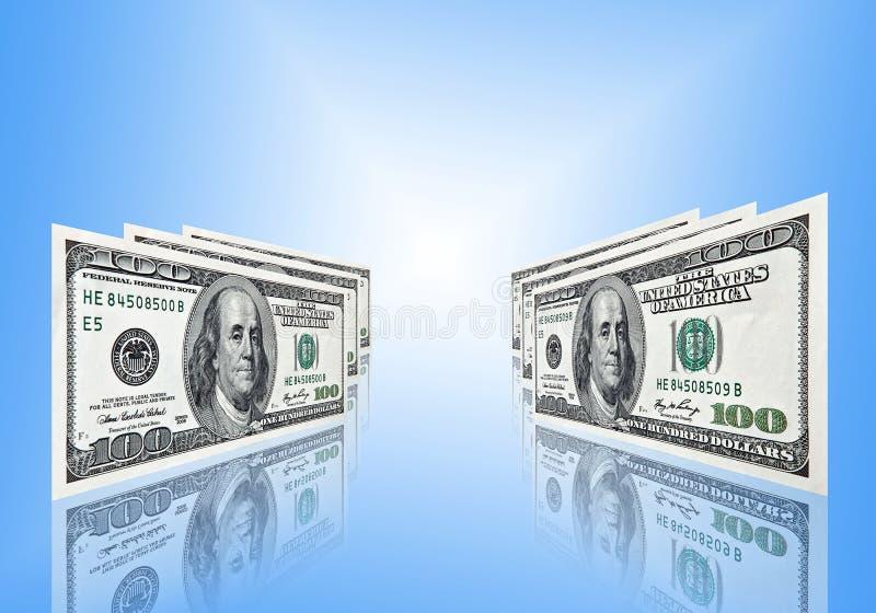 Download Cem dólares no fundo azul imagem de stock. Imagem de financeiro - 12805307