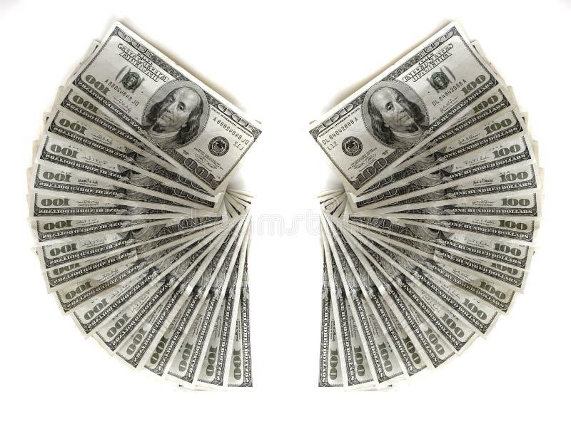 Cem dinheiros americanos do dinheiro das notas de dólar imagem de stock royalty free