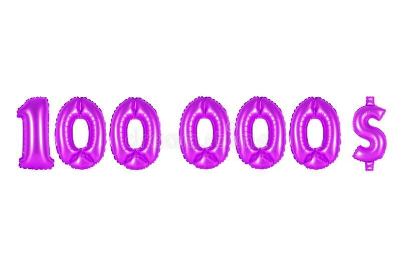 Cem mil dólares, cor roxa fotos de stock