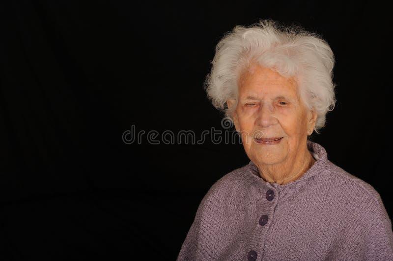 Cem mulheres dos anos de idade imagem de stock royalty free