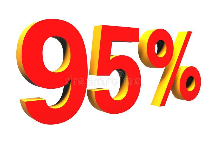 95%, cem por cento foto de stock royalty free