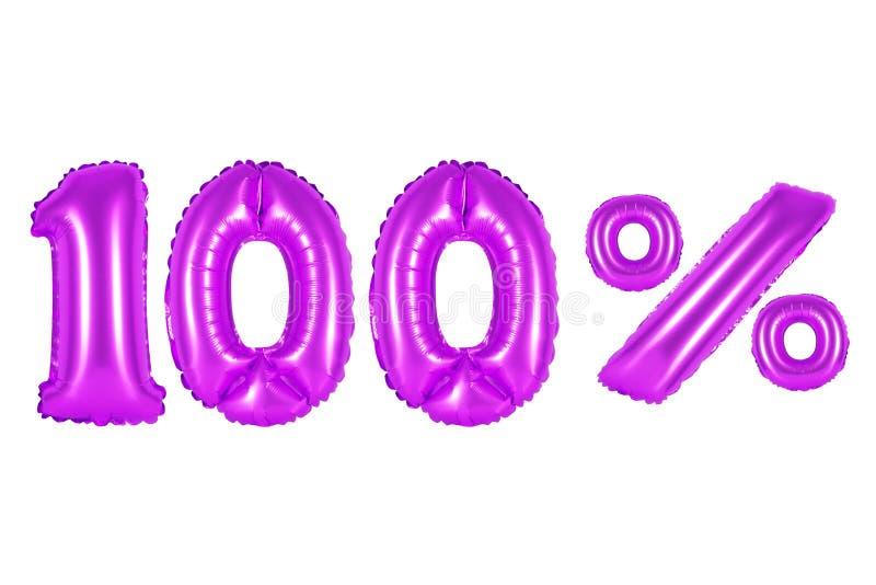 100 cem por cento, cor roxa imagem de stock