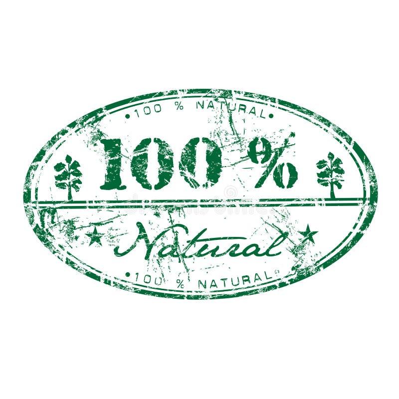 Cem por cento natural ilustração do vetor