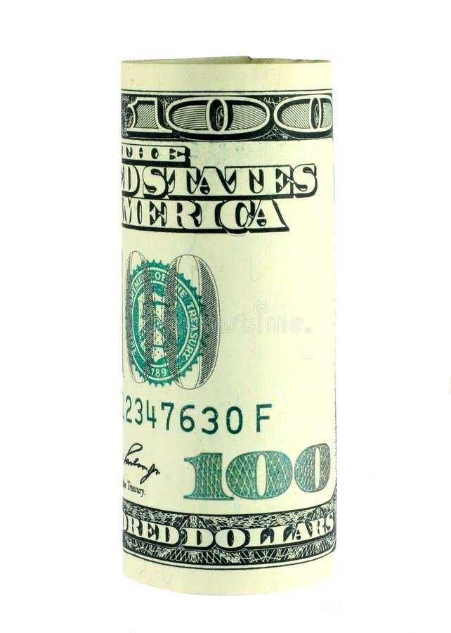 Cem Rolos Da Conta De Dólar Foto de Stock Royalty Free