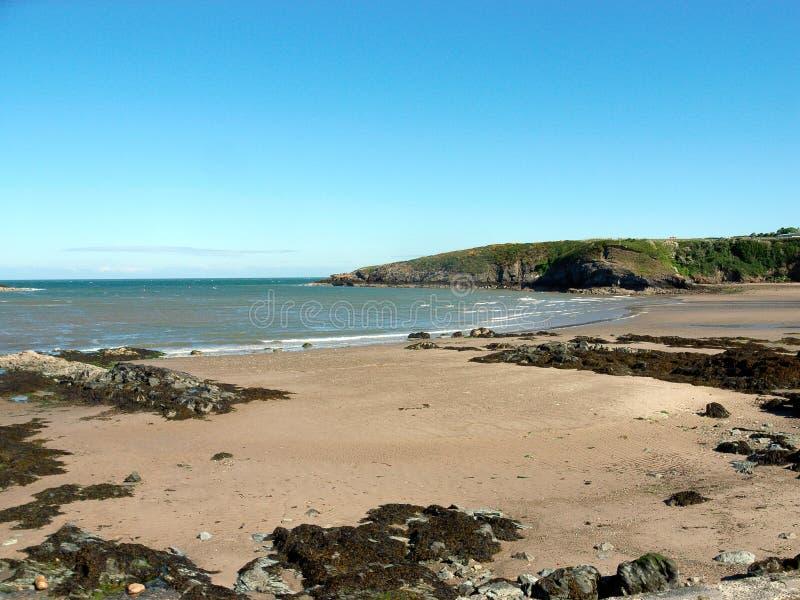 Cemaes zatoka, Anglesey, Walia zdjęcia stock