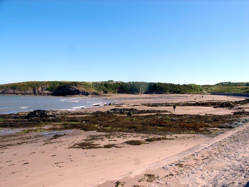 Cemaes zatoka, Anglesey, Walia fotografia royalty free