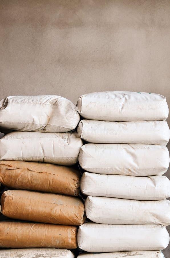 Cement bag stock photos