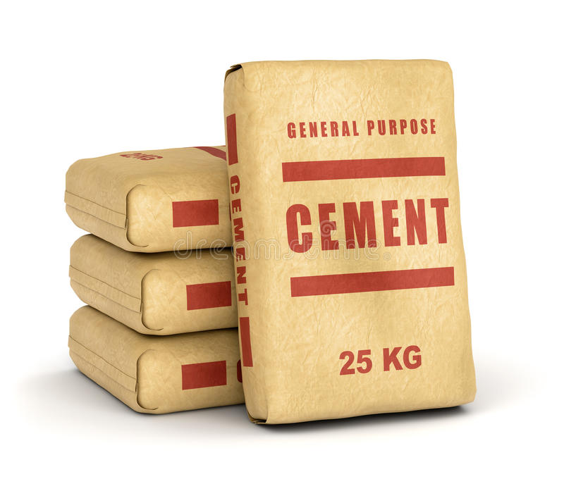 Cement bags pile stock illustration