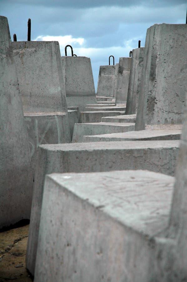 Cement blocks royalty free stock photos