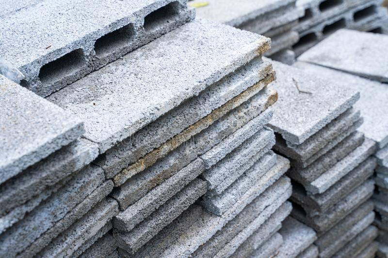 Cement brick for building home. Brick royalty free stock image
