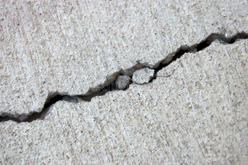 Cement crack stock photo