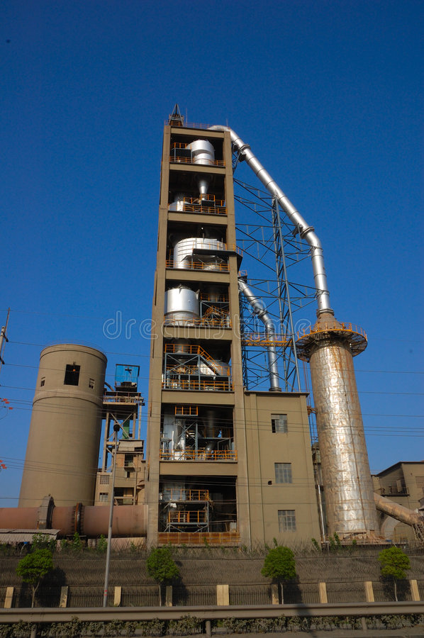 Cement factory. Of shanghai at baoshan royalty free stock photo