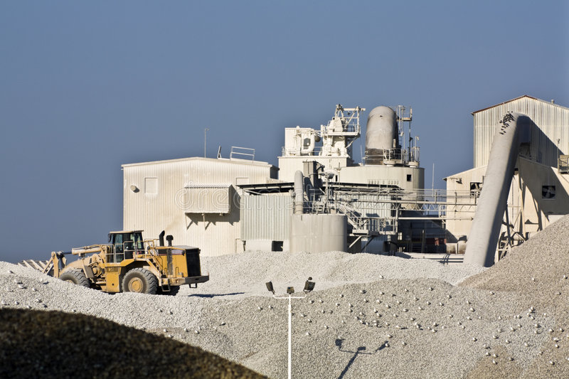 Cement factory. Seen in the morning stock images