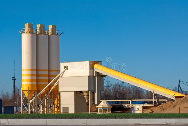 Cement factory (Concrete station) stock images