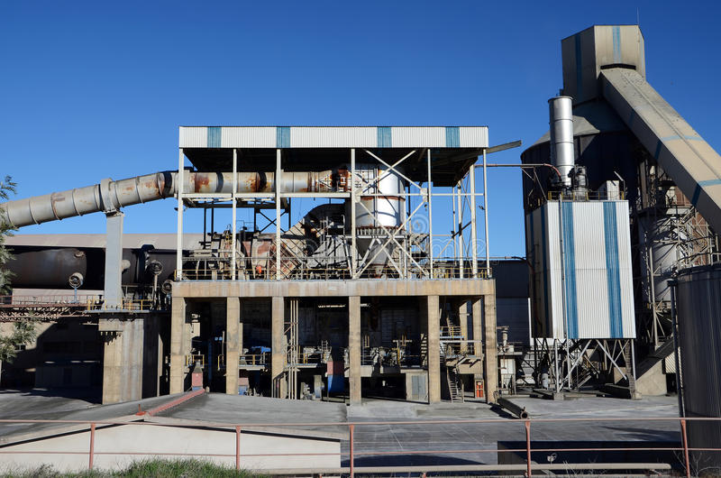 Download Cement factory kiln stock image. Image of tower, building - 29576097
