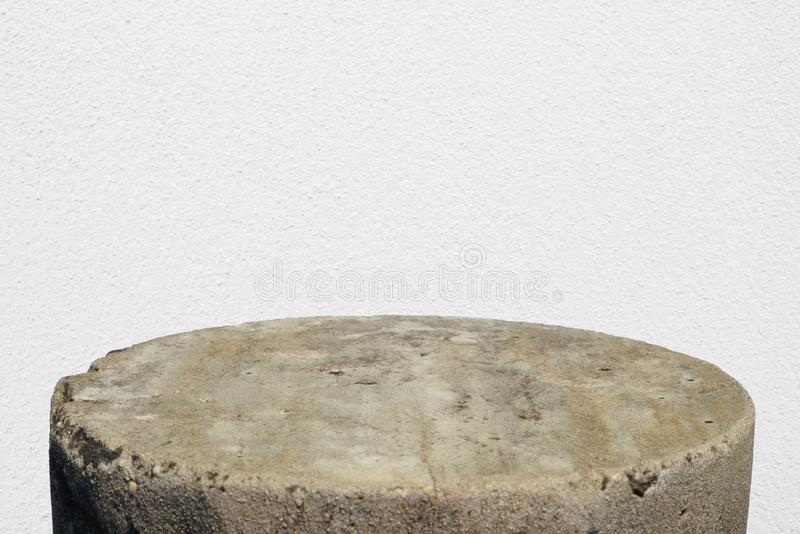 Cement floor for advertising products with white cement royalty free stock images