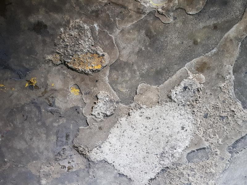 The cement floor is still not good. Cement floor in the factory With non-standard building stock photography