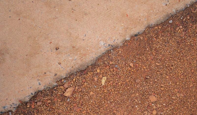 Cement i ziemia obraz royalty free
