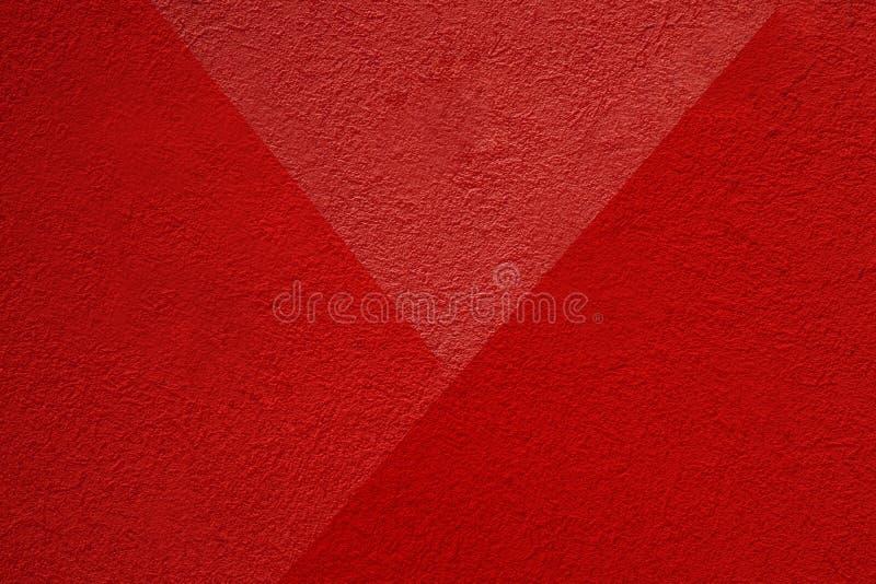 Cement Les murs en plâtre rouge ont une surface rugueuse images stock