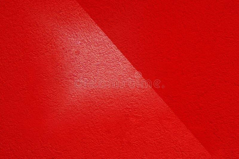Cement Les murs en plâtre rouge ont une surface rugueuse photo libre de droits